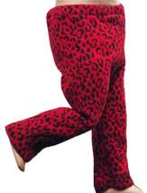 "(I20B35) Clothes American Handmade Red Black Leopard Pants 18"" Inch Dolls - $9.99"