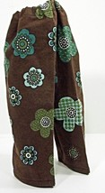 """(I20B35) Clothes American Handmade Brown Teal Floral Pants 18"""" Inch Dolls  - $9.99"""