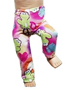 """(I20B35) Clothes American Handmade Pink Frog Peace Pants 18"""" Doll  - $9.99"""