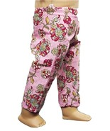 """(I20B35) Clothes American Handmade Pink Red Floral Pants 18"""" Inch Doll  - $9.99"""