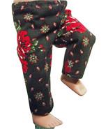 "(I20B35) Clothes American Handmade Black Red Roses Paisley Pants 18"" Inc... - $9.99"
