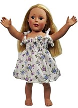 "Clothes American Handmade Blue N Dress 18"" Girl Doll (100CAB123) - $10.99"