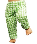 """(I20B35) Clothes American Handmade Green Quilted Pants 18"""" Doll  - $9.99"""