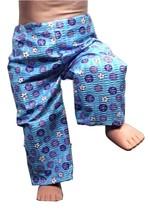 "(I20B35) Clothes American Handmade Blue Purple Pants 18"" Doll  - $9.99"