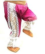 "(I20B35) Clothes American Handmade Raspberry Lace Pants 18"" Inch Girl Doll - $9.99"