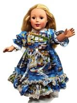"Clothes American Handmade Blue N Dress 18"" InchGirl Doll (85CAB121) - $29.99"