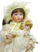 Dynasty Collection Porcelain Victorian Girl Brown Hair with her own Blon... - $39.99