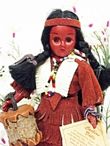 Carlson Collector's Doll Indian Squaw with Papoose (7A4B59) - $9.99