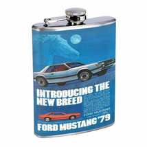 Ford Mustang 1979 Retro Ad Flask 8oz 249 - $14.48