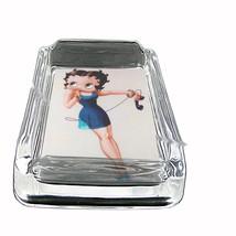 Betty Boop Slinky Blue Dress Glass Square Ashtray 098 - $13.48
