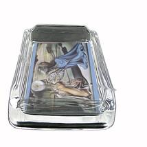 Salvador Dali Tristan And Isolde Glass Square Ashtray 096 - $13.48