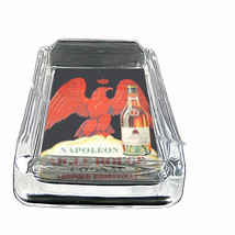 Cognac Napoleon Vintage Poster Glass Square Ashtray 099 - $13.48