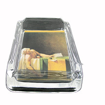 Death Of Marat Jacques Louis David Glass Square Ashtray 393 - $13.48