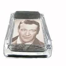 John Wayne Tough Guy Portrait Glass Square Ashtray 424 - $13.48