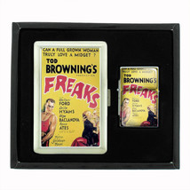 Freaks Tod Browning 1932 Film, Cigarette Case Oil Lighter Set 405 - $15.48