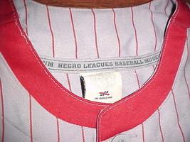 Headgear NLBM 1945 W S Championship Cleveland Buckeyes #38 Grey Red Jersey 2XL image 4