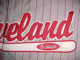 Headgear NLBM 1945 W S Championship Cleveland Buckeyes #38 Grey Red Jersey 2XL image 6