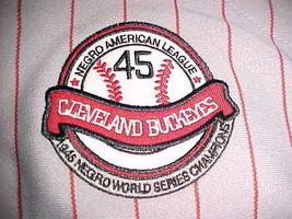 Headgear NLBM 1945 W S Championship Cleveland Buckeyes #38 Grey Red Jersey 2XL image 8