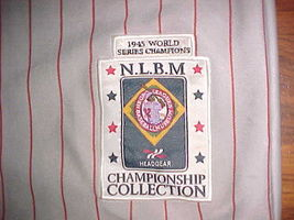 Headgear NLBM 1945 W S Championship Cleveland Buckeyes #38 Grey Red Jersey 2XL image 10