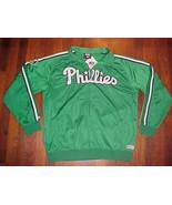 Stitches MLB National Philadelphia Phillies Green Full Zip Track Jacket ... - $46.74