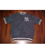 Stitches MLB New York Yankees Men Blue Pinstripes Pullover Teamwear Apparel 2XL - $60.78