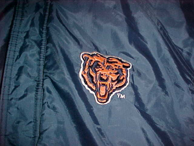 Competitor NFL Gameday Chicago Bears Navy Blue Ornage Jacket M Free shipping image 4