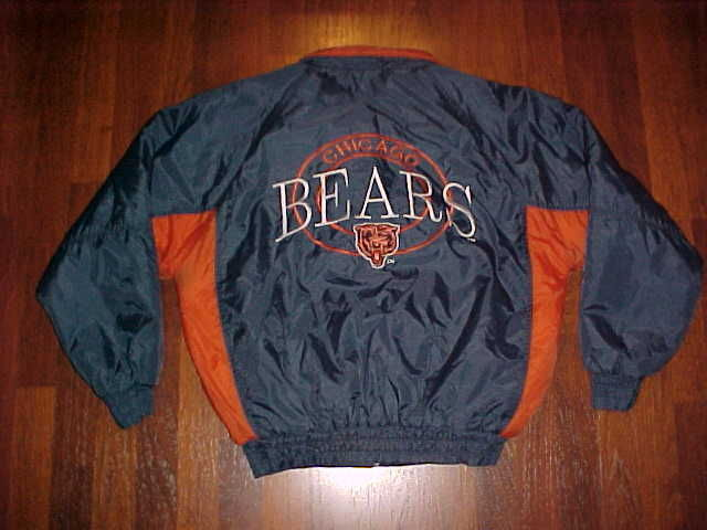 Competitor NFL Gameday Chicago Bears Navy Blue Ornage Jacket M Free shipping