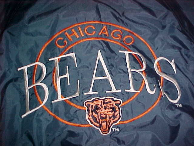 Competitor NFL Gameday Chicago Bears Navy Blue Ornage Jacket M Free shipping image 3
