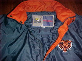 Competitor NFL Gameday Chicago Bears Navy Blue Ornage Jacket M Free shipping image 6