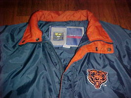 Competitor NFL Gameday Chicago Bears Navy Blue Ornage Jacket M Free shipping image 8