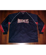 Reebok NBA 1995/96 Houston Rockets Blue Shooting Warmup 2XL Free shippin... - $65.81