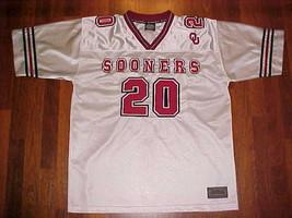 Playmaker NCAA Big 12 Oklahoma Sooners #20 White Crimson Football Jersey... - $56.09