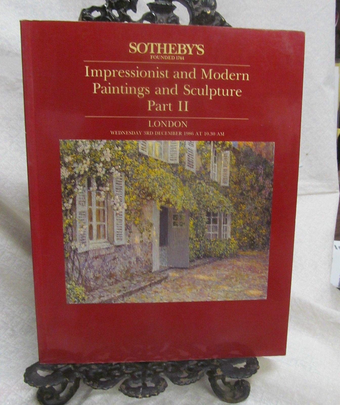 Sotheby's Sale December 1986 Sales Catalog Part II