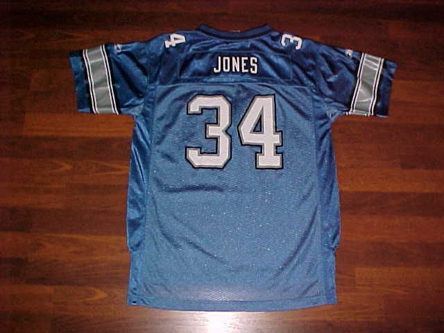 Primary image for Reebok NFL 2004 Detroit Lions Kevin Jones #34 Blue Jersey Youth XL Free shipping