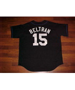 Majestic MLB New York Mets Carlos Beltran #15 Black Jersey XL Free shipping - $46.74