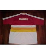 Dunk Classic Vintage NBA Atlanta Hawks Red White Full Zip Shooting Warmu... - $57.59