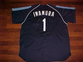 Nike MLB 2007 Tampa Bay Rays Akinori Iwamura #1 Blue Jersey 2XL Free shi... - $65.44