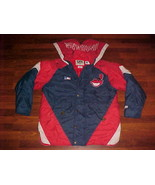 Lee MLB Cleveland Indians Blue Red Winter Nylon Jacket with Hood M Free ... - $65.44