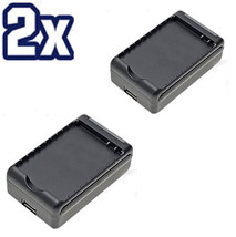 Two 2X External Battery Charger HTC EVO 4G SPRINT Hero Travel Home Wall Dock New - $18.68