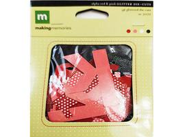 Making Memories Alpha Red & Pink Glitter Die-Cuts