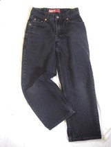 Boys Teen Size 25x25 Levis 550 Relaxed Fit Jeans Straight Leg  Black Wash Cotton - $13.61