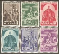 1960 World Refugee Year Set of 6 Vatican Stamps Catalog Number 275-80 MNH