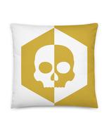 Skull Pillow, Honeycomb Pillow, Hive Pillow, Horror Pillow, Rocker Pillow, White - $32.95 - $36.95