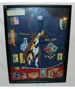 Vintage Boy Cub Scout Uniform w/ Lots of Awards, Accomplishments in Disp... - $148.01