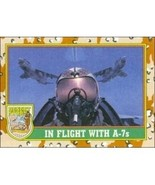 1991 Topps Desert Storm IN FLIGHT WITH A-7s #80 - $0.49