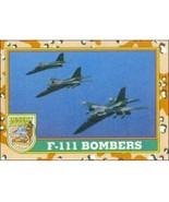 1991 Topps Desert Storm F-111 BOMBERS #36 - $0.49
