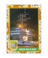 1991 Topps Desert Storm CARRIER SHIP AT NIGHT #55 - $0.49