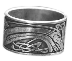 New Celtic Dog infinity Knot Real Solid Sterling silver .925 Ring Band J... - $59.99