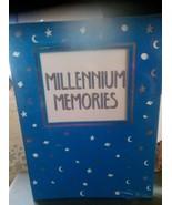 Millenium Memories Photo Album sun moon stars sealed blue white  - $14.03