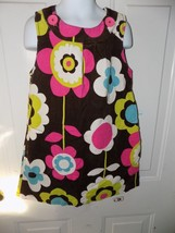 Mini Boden Brown Flower Jumper Corduroy Dress Size 5/6Y Girl's EUC - $20.28